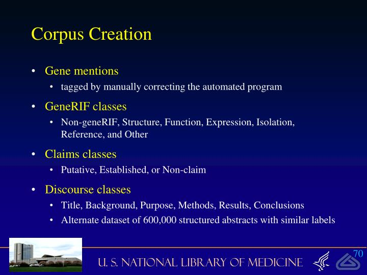 Corpus Creation