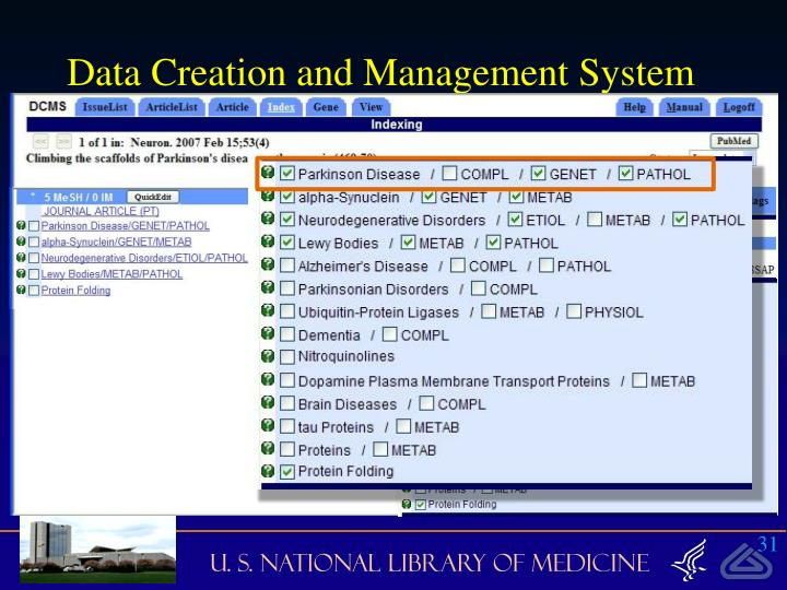 Data Creation and Management System