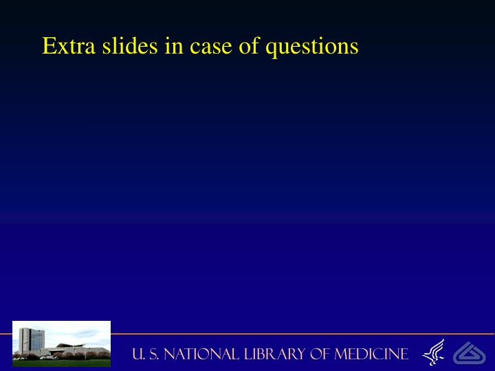 Extra slides in case of questions