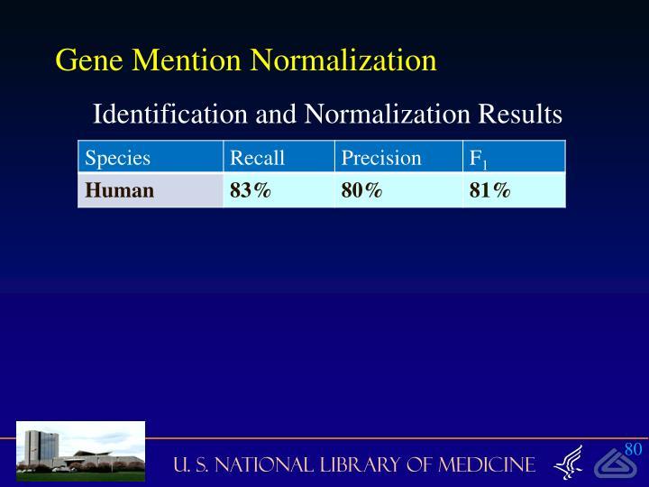 Gene Mention Normalization