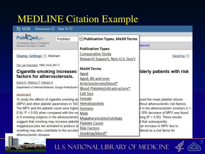 MEDLINE Citation Example