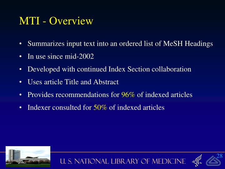 MTI - Overview