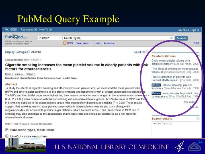 PubMed Query Example