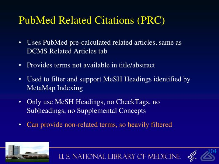 PubMed Related Citations (PRC)