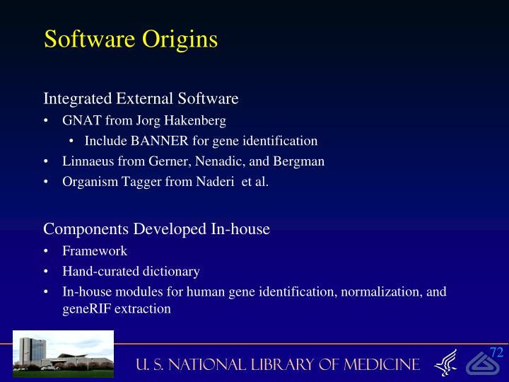 Software Origins