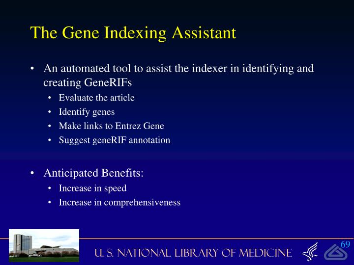 The Gene Indexing Assistant