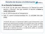 derecho de acceso a la informaci n