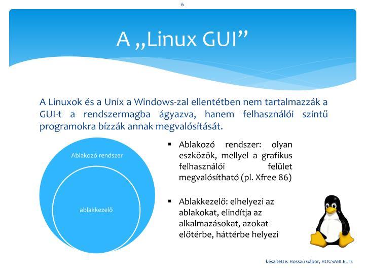 """A """"Linux GUI"""""""