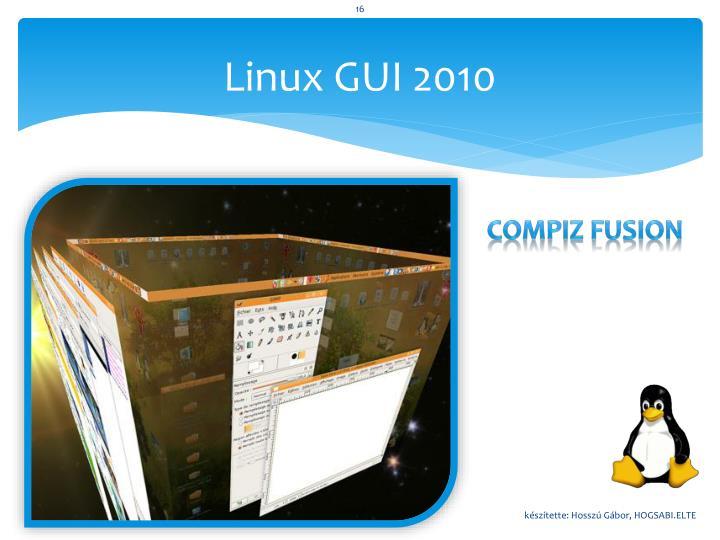 Linux GUI 2010