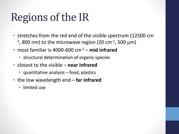 Regions of the IR