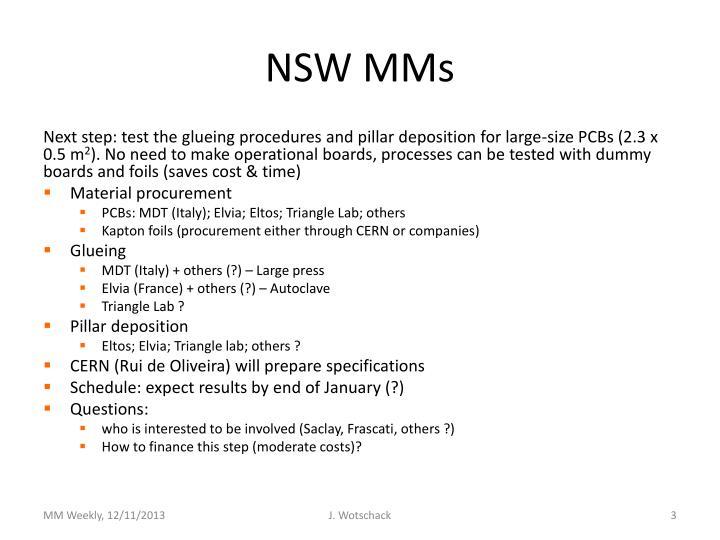 NSW MMs