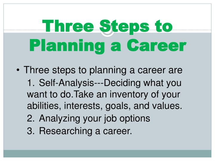 Three Steps to