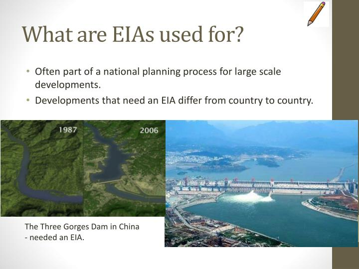 What are EIAs used for?