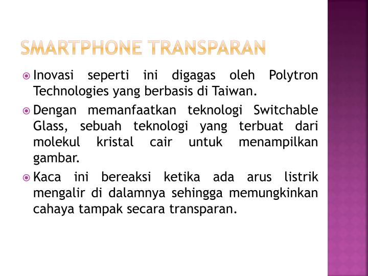 SMARTPHONE TRANSPARAN