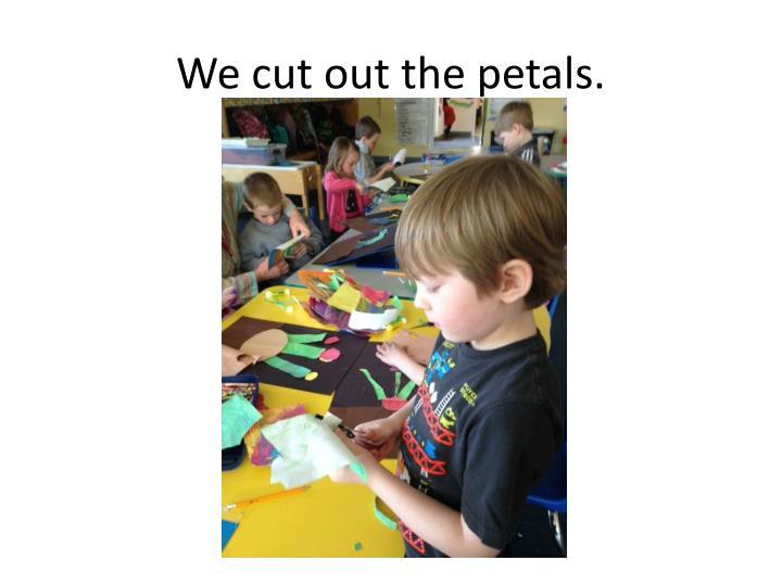 We cut out the petals.