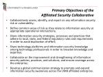 primary objectives of the affiliated security collaborative
