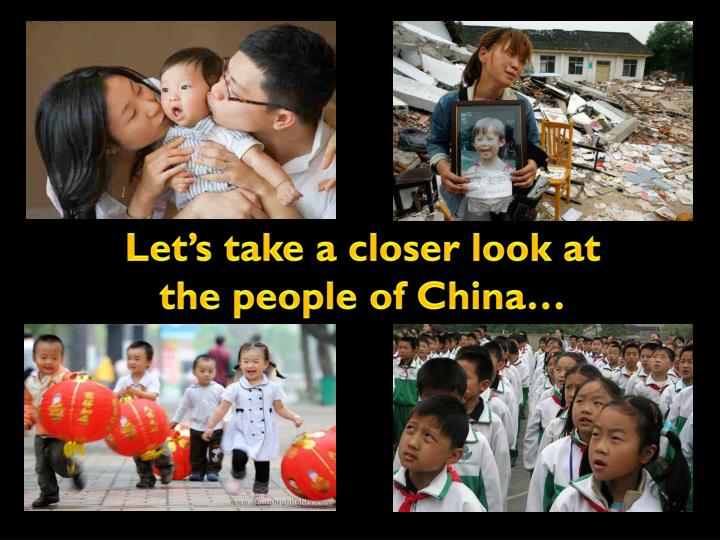 Let's take a closer look at the people of China…
