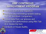 amp continous improvement program