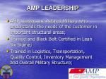 amp leadership