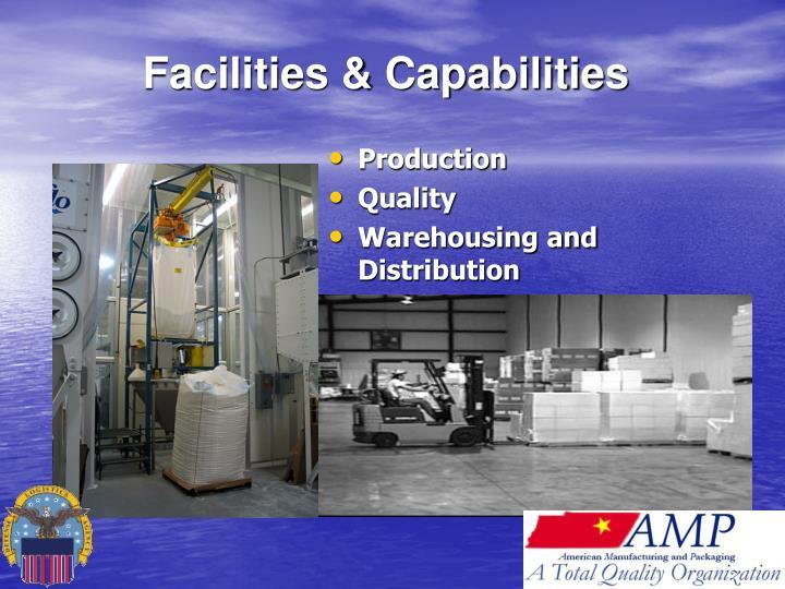 Facilities & Capabilities