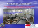 production capabilities