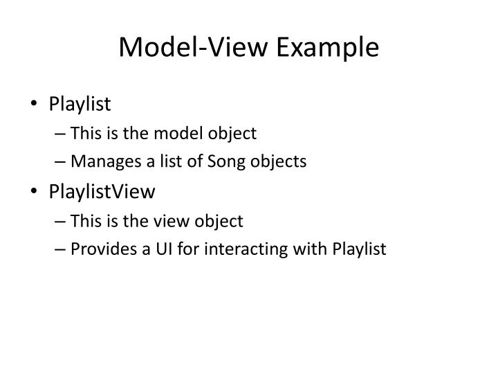 Model-View Example