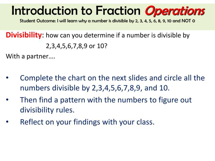 Introduction to Fraction