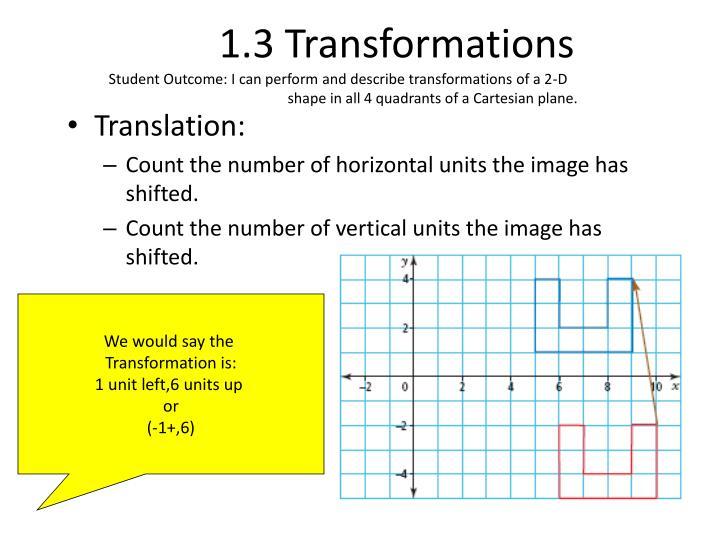 1.3 Transformations