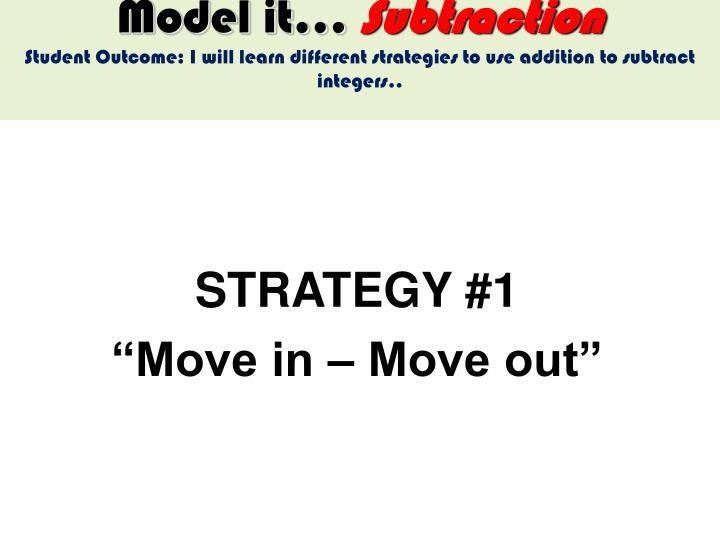 Model it…