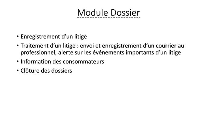 Module Dossier