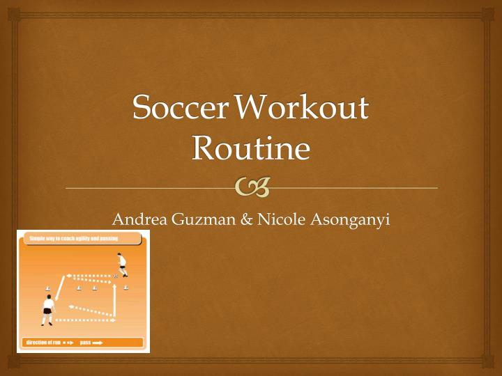 Soccer workout routine