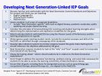 developing next generation linked iep goals