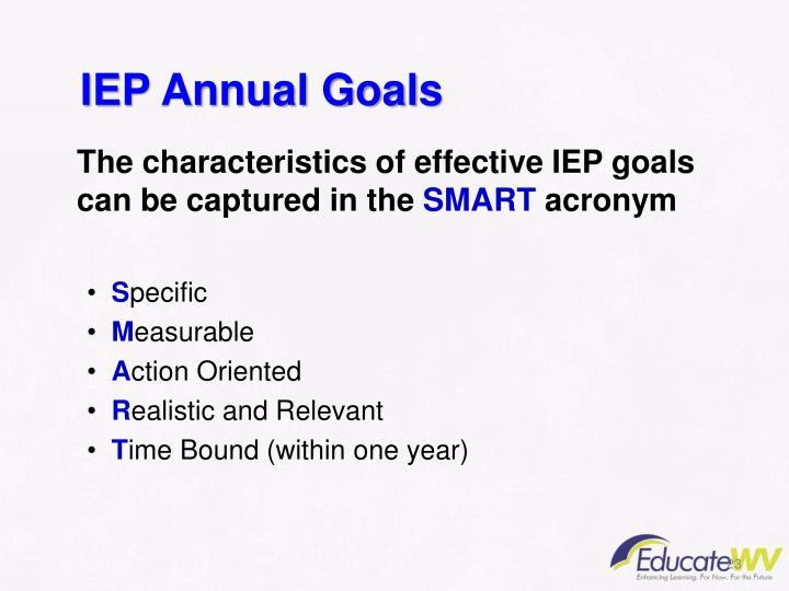 IEP Annual Goals