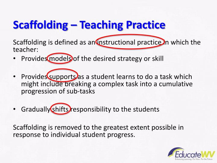 Scaffolding – Teaching Practice