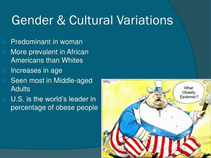 Gender & Cultural Variations