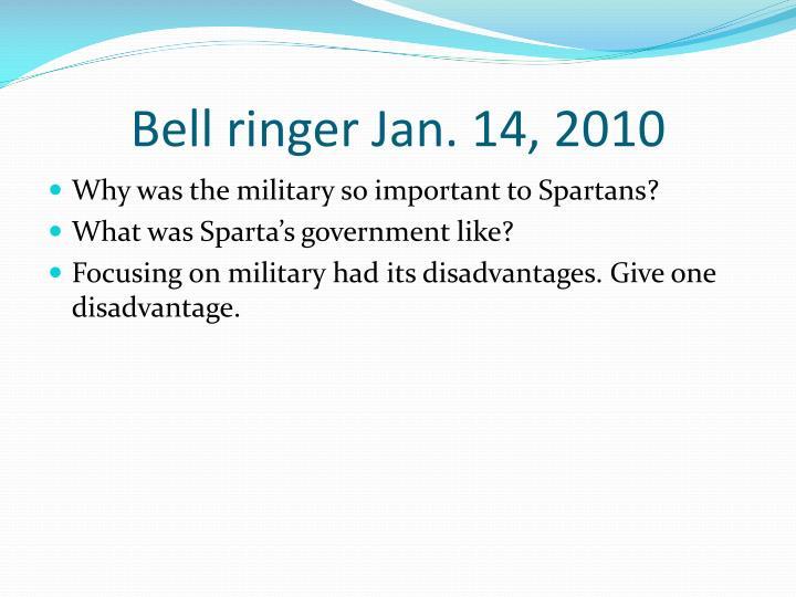 Bell ringer Jan. 14, 2010