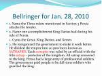 bellringer for jan 28 2010