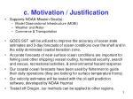 c motivation justification