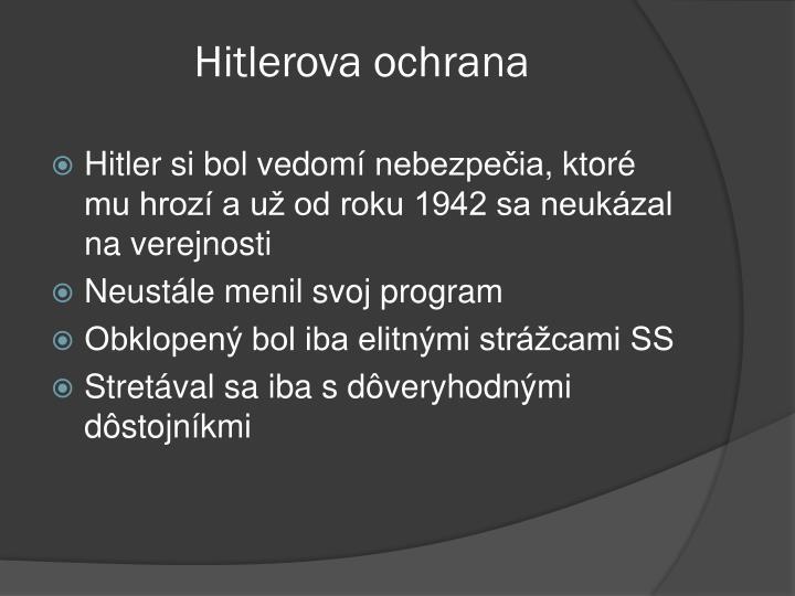 Hitlerova ochrana