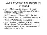 levels of questioning brainstorm 1 st period
