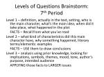 levels of questions brainstorm 7 th period