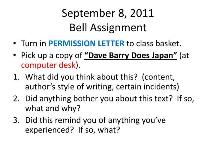 September 8, 2011