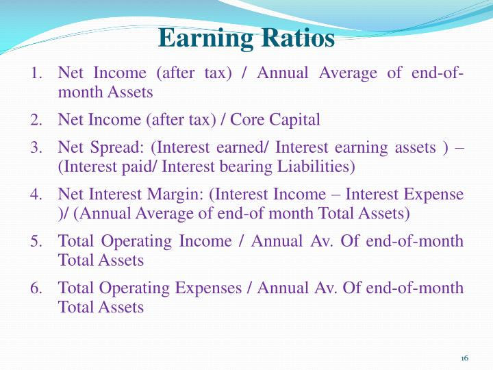 Earning Ratios