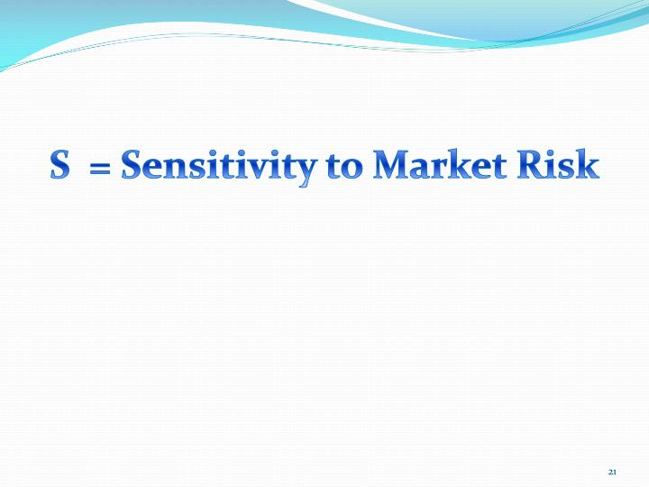 S  = Sensitivity to Market Risk