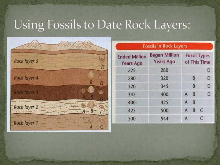 Using Fossils to Date Rock Layers: