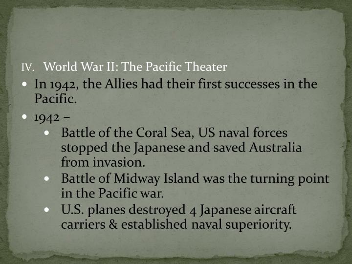 World War II: The Pacific Theater