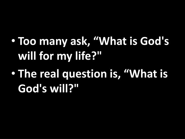"""Too many ask, """"What"""