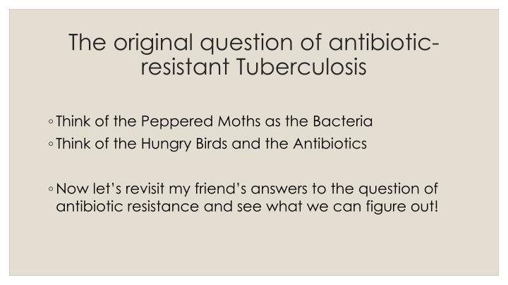 The original question of antibiotic-resistant Tuberculosis