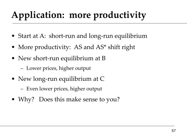 Application:  more productivity