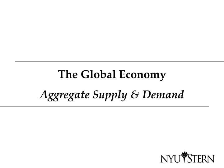 The global economy aggregate supply demand